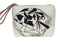NEW - SHISEIDO CANVAS MAKEUP BAG Beige/Pink STORAGE BAG