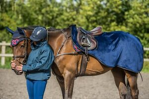 New Dark Horse Super - Soft Teddy Fleece Exercise Sheet Winter Riding Horse
