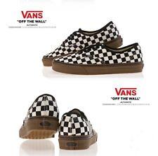 Vans Authentic Checkerboard size 10 Black/White/Gum VN0004MKIBB