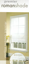 """NEW White Premier Roman Shade Blind with 2 pole 27"""" 29"""" 39"""" 46"""" 48"""" 52"""" 59"""" 71"""""""