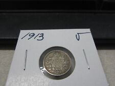 1913 - Silver - Canadian nickel - Canada 5 cents