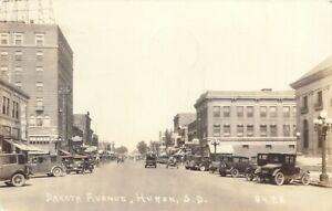 A Busy Day On Dakota Avenue, Huron, South Dakota SD RPPC 1937