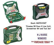 Bosch 2607019327 Titanio 50 piezas X Taladro de línea, pedacito de destornillador y el conjunto de herramientas
