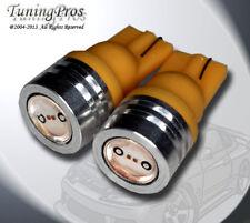 (1 Pair) Set of 2 pcs High Beam Indicator T10 High Power Yellow LED Bulbs 161