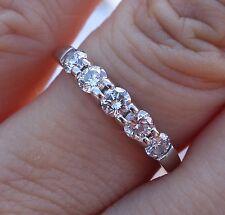 .56ct G/SI2 5 stone diamond wedding anniversary band 14k WG