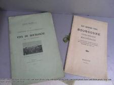 Lot de 2 rares plaquettes vins de Bourgogne expositions Macon Chalon beaune