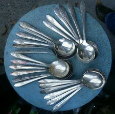 Lot 6 MATCHING Vintage Silverplate GUMBO SPOONS TUDOR PLATE QUEEN BESS II MG13