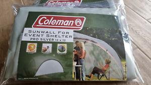 2x COLEMAN Event Shelter L Seitenwand (365x169cm / grau-silber / !TOP!)