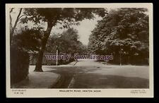 tp2614 - Lancashire - Early view down Mauldeth Road in Heaton Moor - postcard