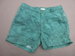 ONIA SIZE L(32) MENS GREEN LINED SIDE PICKETS SWIMMING SHORTS T491