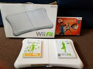 Nintendo Wii Fit Balance Board with Wii Fit & Wii Fit Plus, Wii Active 2