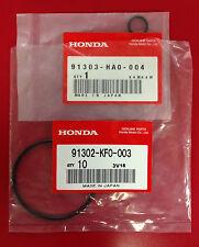Honda OEM TRX300 Fourtrax ALL TRX420 FE/FM 07-2017 Oil Filter Cap O-Rings (pair)