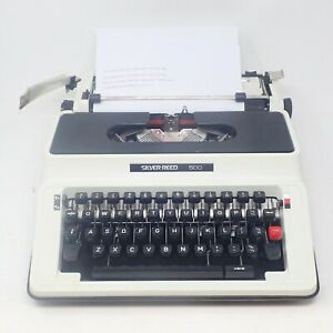 Silver Reed 500 Typewriter & Case Ready To Use Tested Working New Ribbon Fitted