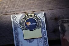 President's Cup Logo Money Clip ! Antique Finish- Free Engraving