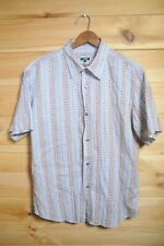 Paul Smith Jeans Shirt Cuban Vibrant Bright Pattern Large Slim Short Sleeve