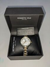 Kenneth Cole Ladies KC51058001 Crystal Accented Two Tone Watch Brand NEW