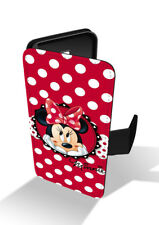Minnie Mouse Polka Dot Disney Wallet Leather Phone Case Cover