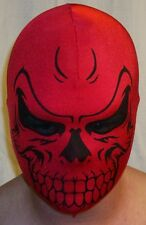 RED SKULL MASK SCARY HALLOWEEN COSTUME COSPLAY