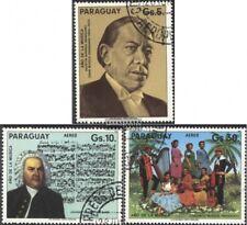 Paraguay 3860-3862 (kompl.Ausg.) gestempelt 1985 Jahr der Musik