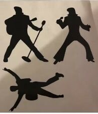 Elvis Presley Vinyl Stickers Car Vehicle Window Decal Cards King Music Sticker