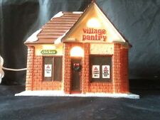 1999 Ceramic Marsh Village Pantry Convenience Store Lighted Replica