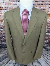 Jos A Bank Blazer 42L Men's  Plaid 2 Button Sport Coat Jacket Wool Silk