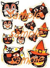 Halloween Crazy Cats Waterslide Decals