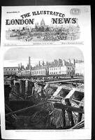 Old 1862 Bursting Fleet Ditch Destruction Metropolitan Railway Accide Victorian
