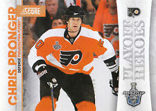10/11 SCORE PLAYOFF HEROES STANLEY CUP #22 CHRIS PRONGER FLYERS *9024