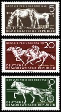 EBS East Germany DDR 1958 Horse Race Grand Prix Michel 640-642 MNH**
