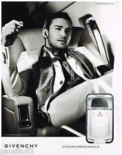PUBLICITE ADVERTISING 105 2008  PLAY   parfum homme GIVENCHY JUSTIN TIMBERLAKE