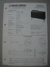PHILIPS f5d02a Stella 502 stereo cassapanca SERVICE MANUAL Edizione 05/60