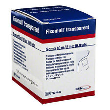 """Fixomull Transparent Film Dressing Tape by BSN Medical: 2"""" x 10.9yds - Each"""