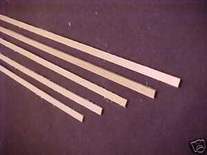"1/16  x 1/4 x  24"" Model Lumber Strip Wood Dollhouse Supplies 5pcs Basswood 4026"