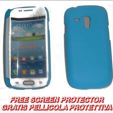 Pellicola+custodia BACK COVER AZZURRA per Samsung I8190 Galaxy S3 S 3 mini (H5)