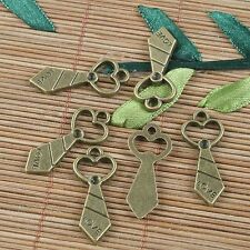 14pcs antiqued bronze love tie pendant charm G1060