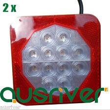 2X 12V LED Waterproof Signal Light Trailer Truck Tail Lamp Stop Indicator Light