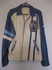 Guess Vintage Varsity Letterman Style Leather Jacket Men's Xl