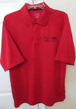 Jaguar Land Rover Competition Team Polo Golf Shirt Red Size Large