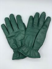 Cabela's Men's Green Leather Fleece Lined Gore Tex Driving Business Gloves SMALL