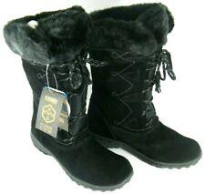 Khombu Women's Winter Boots Black Suede Leather Meghan Mid-Calf Warm 9M NEW