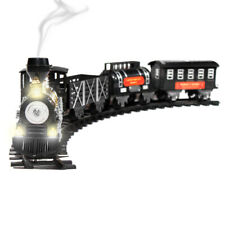 Holiday Toy Train Set w/ Lights, Sound, and Real Smoke