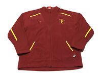 Vintage Team Nike USC Trojans Full Zip Fleece Red Jacket Men's Size XXL