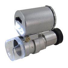 Taschenmikroskop Mini Mikroskop Taschenlupe Juwelierlupe 60x Vergrößerung Lupe