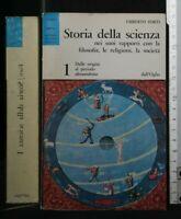 STORIA DELLA SCIENZA. Vol. 1. Umberto Forti. Dall'oglio.