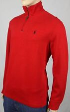 Polo Ralph Lauren Red 1/2 Half Zip Sweater Black Pony NWT