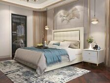 Bett Polster Design Luxus Doppel Hotel Betten Ehe 180x200cm Schlaf Zimmer Metall