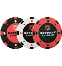 Ball Markers Odyssey Poker Chip - 3 pack with alignment line on the back.