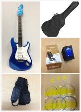 Haze E-211MBL Solid Body Electric Guitar,Metallic Blue+Free Gig Bag-Full Kits!
