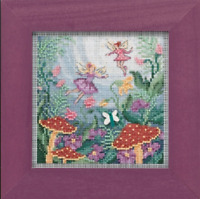 MILL HILL Buttons Beads Kit Counted Cross Stitch FAIRY GARDEN MH14-1921